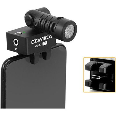 Microfone Shotgun Comica CVM-VS09 TC USB-C
