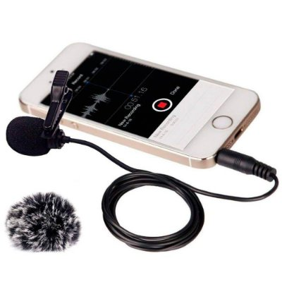 Microfone de lapela Comica CVM-V01SP (cabo de 2,5 m)