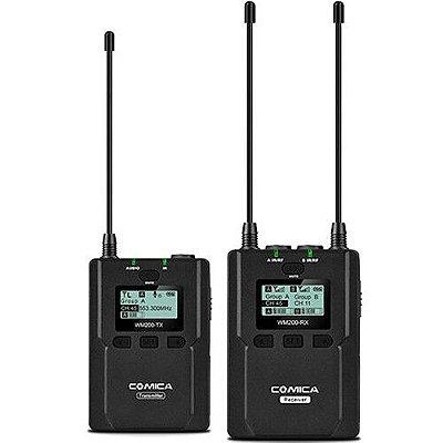Sistema de microfone sem fio Comica Audio CVM-WM200C