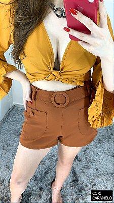 Shorts Alfaiataria Tecido Mole