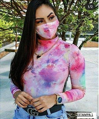 Body Tie Dye Suplex  Manga Longa + Brinde (Máscara)