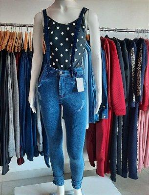 Calça Jeans Suspensório