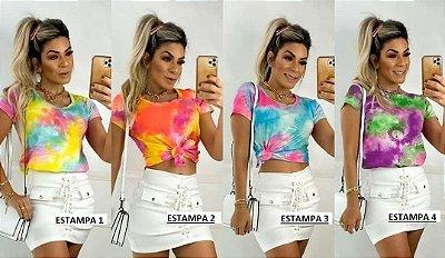 T-shirt Tie Dye Tam. Único