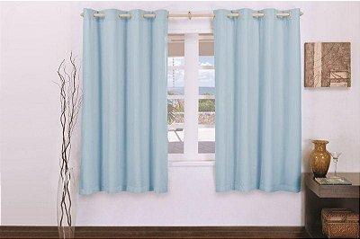 Cortina Corta Luz Varão Simples para Sala Quarto Escritório PVC com Voil