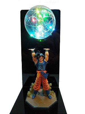 Luminária Dragon Ball Son Goku Genki Dama Bivolt