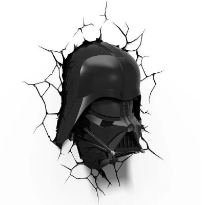 Luminária  Darth Vader Star Wars Helmet  3d Light Fx