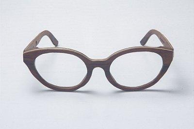 Armação de Óculos de Grau de Madeira Leaf Eco Lilly