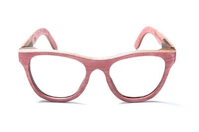 Armação de Óculos de Grau de Madeira Leaf Eco Drop