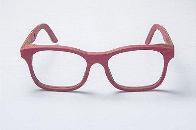 Armação de Óculos de Grau de Madeira Leaf Eco Groove