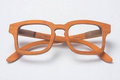 Armação de Óculos de Grau de Madeira Leaf Eco Baré