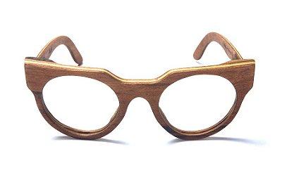 Armação de Óculos de Grau de Madeira Leaf Eco Blur