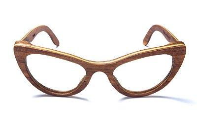 Armação de Óculos de Grau de Madeira Leaf Eco Thunder
