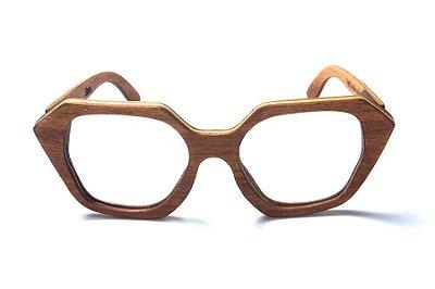 Armação de Óculos de Grau de Madeira Leaf Eco Stone
