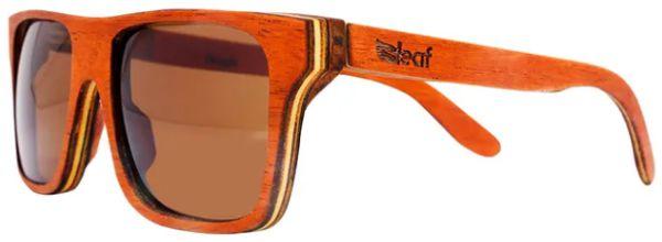 Óculos de Sol de Madeira Leaf Eco Beagle Mogno
