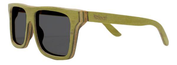 Óculos de Sol de Madeira Leaf Eco Beagle Verde