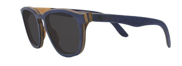 Óculos de Sol de Madeira Leaf Eco Charles Azul Escuro