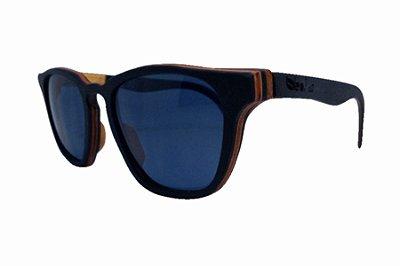 Óculos de Sol de Madeira Leaf Eco Charles Preto