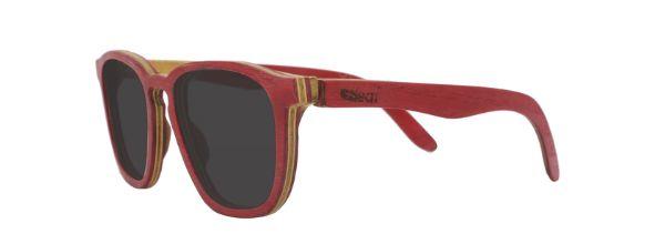 Óculos de Sol de Madeira Leaf Eco Charles Vermelho