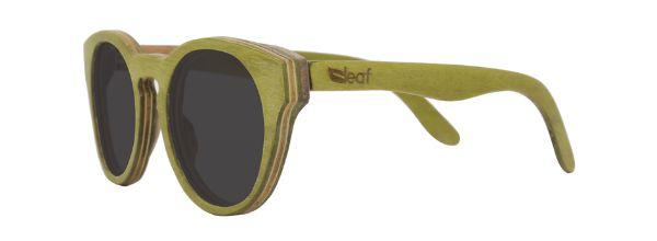 Óculos de Sol de Madeira Leaf Eco Bird Verde