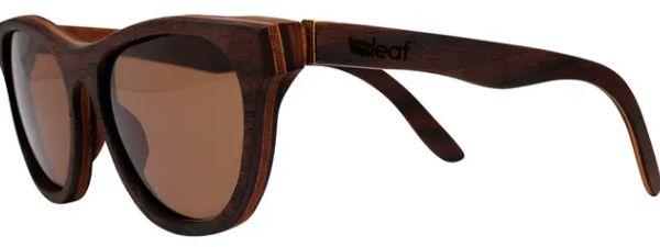 Óculos de Sol de Madeira Leaf Eco Drop Louro Preto