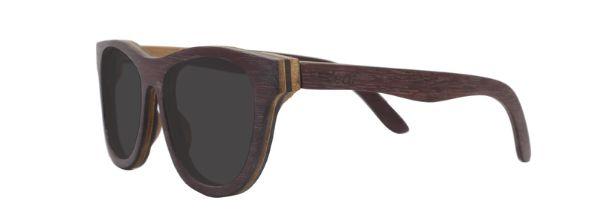 Óculos de Sol de Madeira Leaf Eco Drop Roxinho
