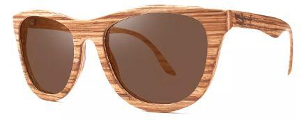 Óculos de Sol de Madeira Leaf Eco Drop Zebrano