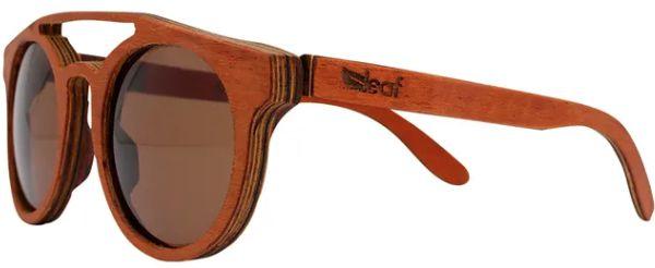Óculos de Sol de Madeira Leaf Eco Eleanor Mogno