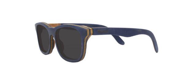 Óculos de Sol de Madeira Leaf Eco Groove Azul Escuro