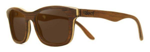 Óculos de Sol de Madeira Leaf Eco Groove Imbuia