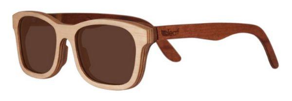 Óculos de Sol de Madeira Leaf Eco Groove Maple Mogno