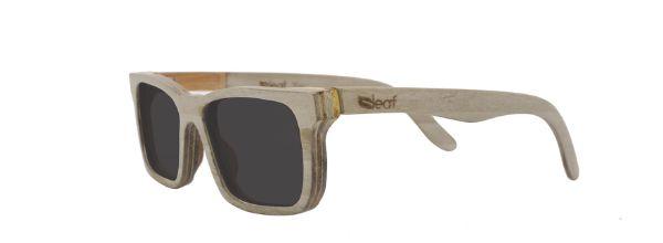 Óculos de Sol de Madeira Leaf Eco Miles Cinza