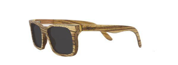 Óculos de Sol de Madeira Leaf Eco Miles Zebrano