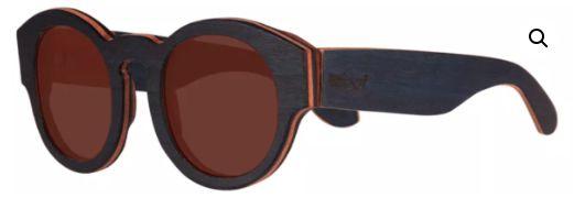 Óculos de Sol de Madeira Leaf Eco Pelican Azul Escuro