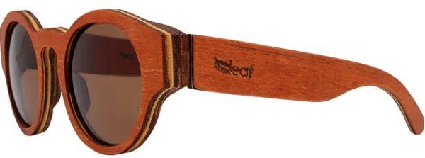 Óculos de Sol de Madeira Leaf Eco Pelican Mogno