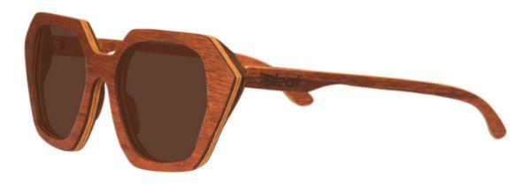 Óculos de Sol de Madeira Leaf Eco Stone Muiracatiara