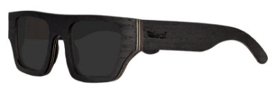 Óculos de Sol de Madeira Leaf Eco Cali Preto