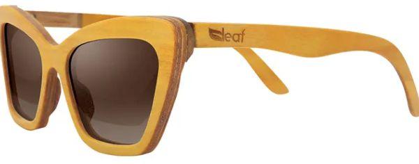 Óculos de Sol de Madeira Leaf Eco Joan Amarelo