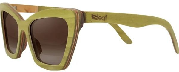 Óculos de Sol de Madeira Leaf Eco Joan Verde