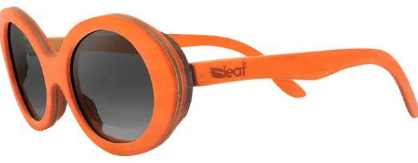 Óculos de Sol de Madeira Leaf Eco Kurt Laranja