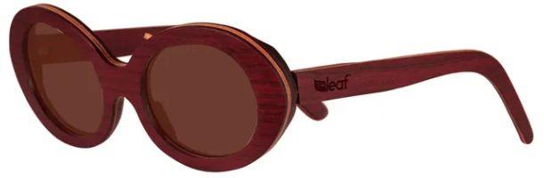 Óculos de Sol de Madeira Leaf Eco Kurt Roxinho