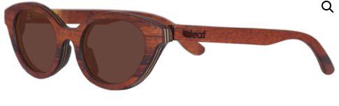 Óculos de Sol de Madeira Leaf Eco Lilly Jacarandá