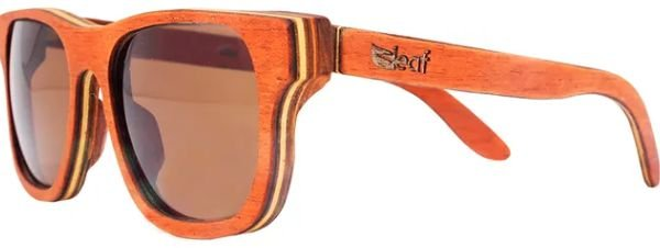 Óculos de Sol de Madeira Leaf Eco Roy Mogno