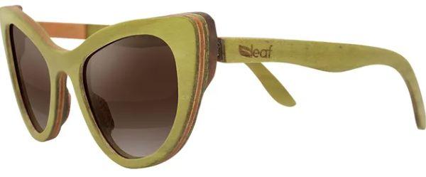 Óculos de Sol de Madeira Leaf Eco Thunder Verde
