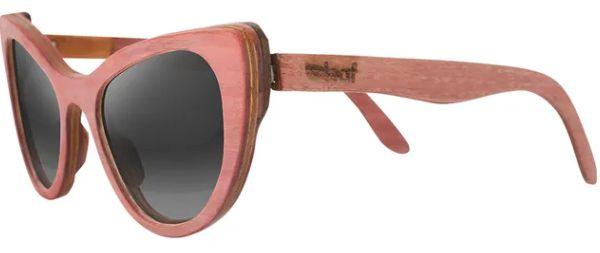 Óculos de Sol de Madeira Leaf Eco Thunder Rosa