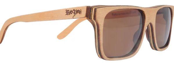Óculos de Sol de Madeira Leaf Eco Rozini Beagle Maple