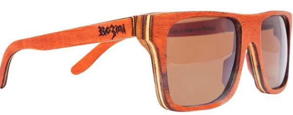 Óculos de Sol de Madeira Leaf Eco Rozini Beagle Mogno
