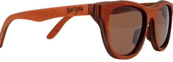 Óculos de Sol de Madeira Leaf Eco Rozini Drop Mogno
