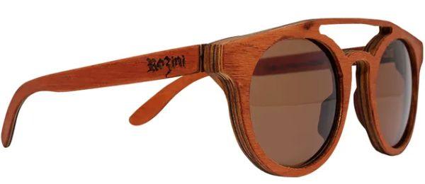 Óculos de Sol de Madeira Leaf Eco Rozini Eleanor Mogno