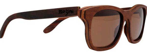 Óculos de Sol de Madeira Leaf Eco Rozini Roy Louro Preto