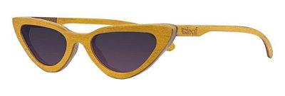 Óculos de Sol de Madeira Leaf Eco Velma Amarelo